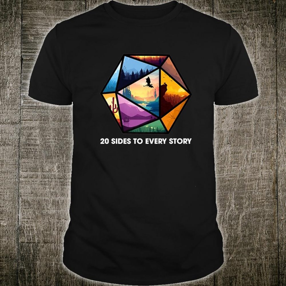 20 Sides To Every Story D20 Dice Rpg Gamer Shirt