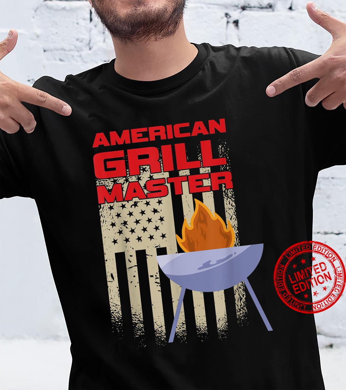 American Chef Grill Master United States Of America USA Flag Shirt