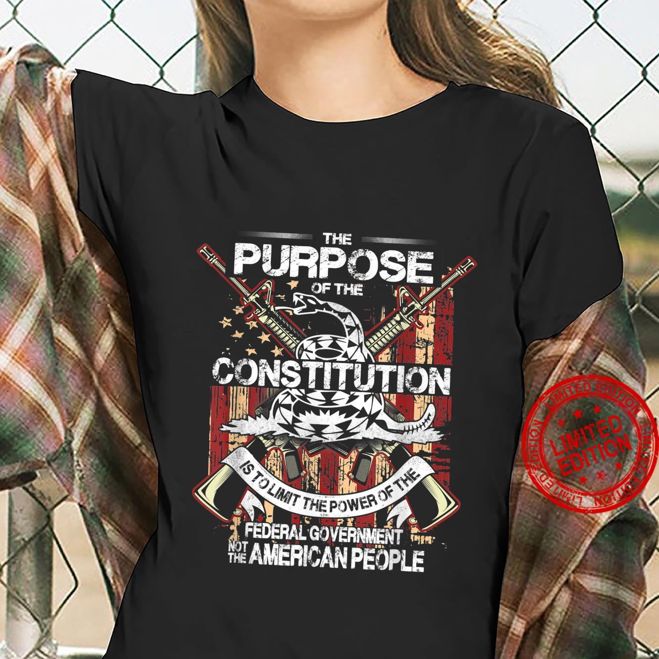 American Constitution Federal Government Guns Shirt ladies tee