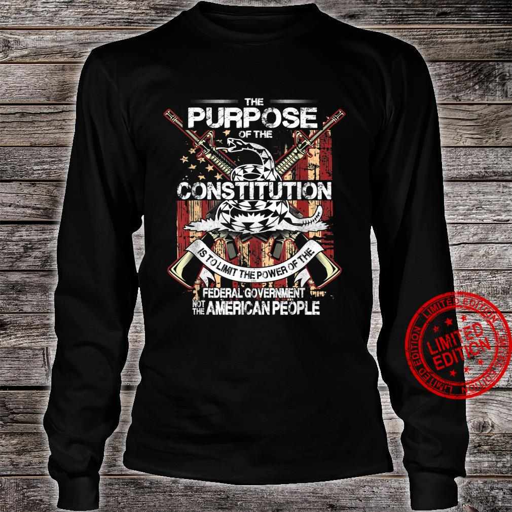 American Constitution Federal Government Guns Shirt long sleeved