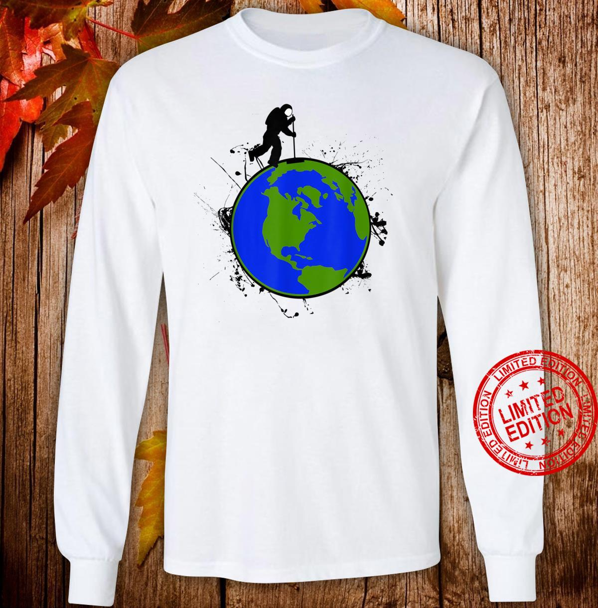 Astronaut Space Earth Day Stardust Sweeper Shirt long sleeved