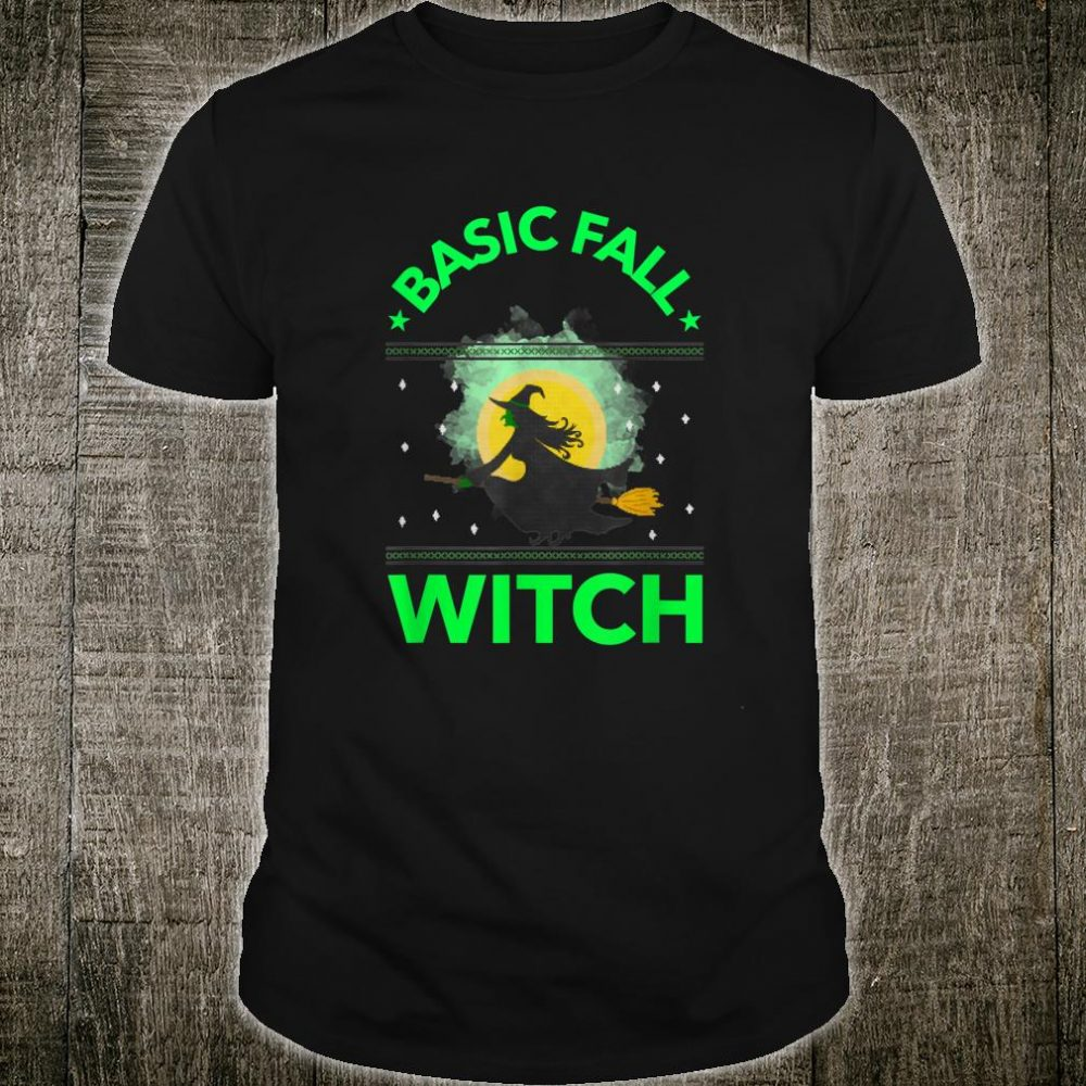 Basic Fall Witch Cute Spooky Halloween Shirt