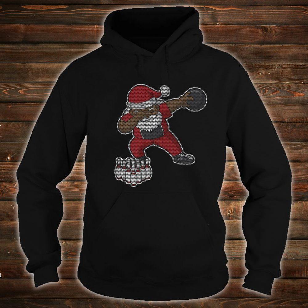 Bowling African American Santa Claus Bowler Christmas Shirt hoodie