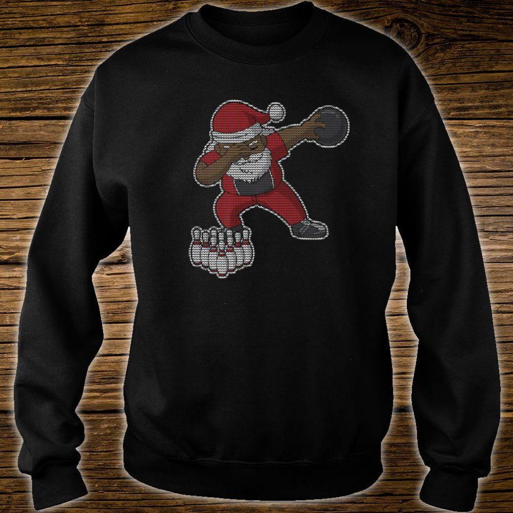 Bowling African American Santa Claus Bowler Christmas Shirt sweater