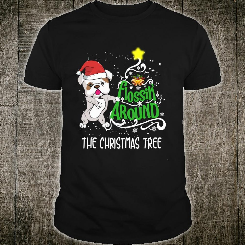 Bulldog Dog Christmas Flossing Dance Shirt