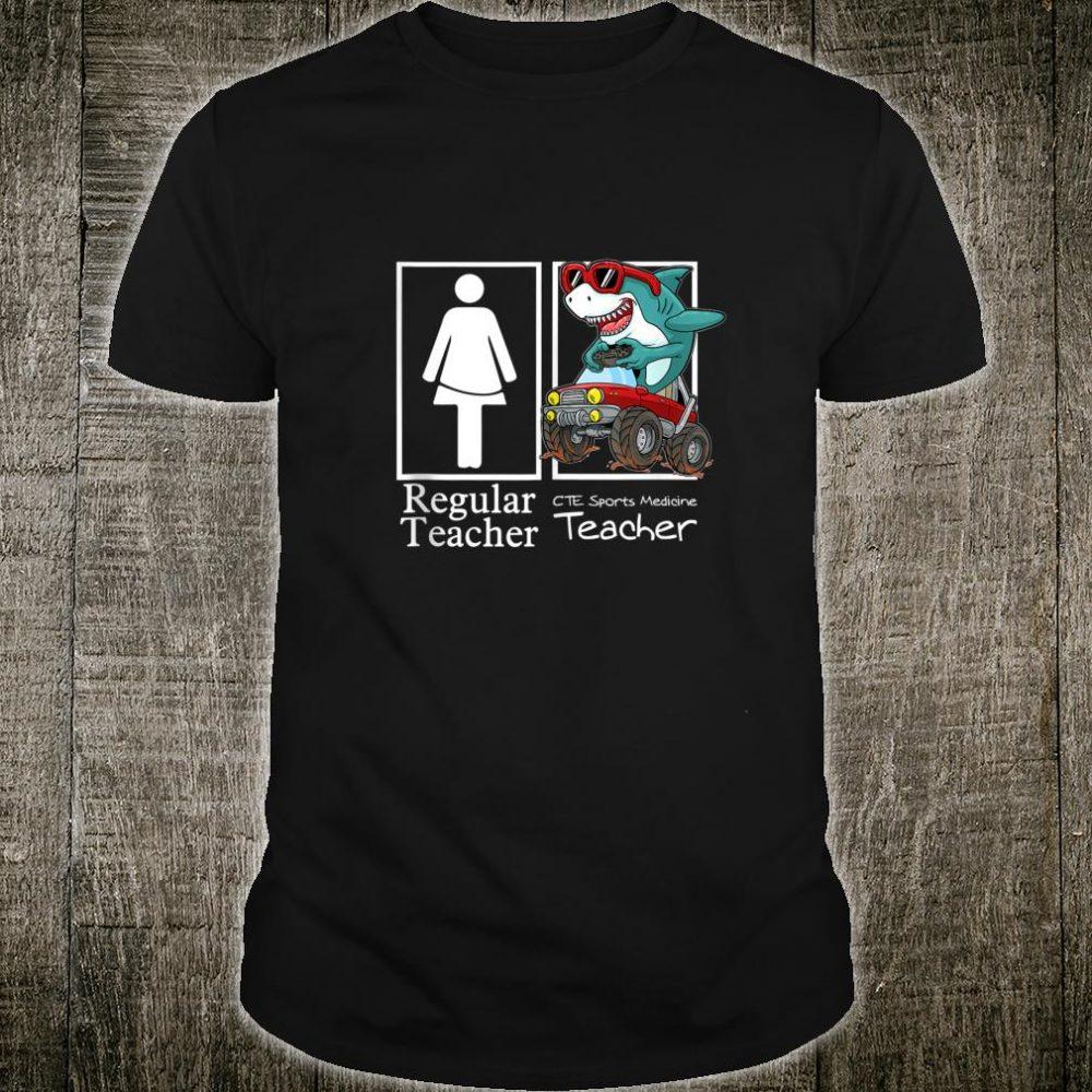 CTE Sports Medicine Teacher Monster Truck Gamer Shark Shirt