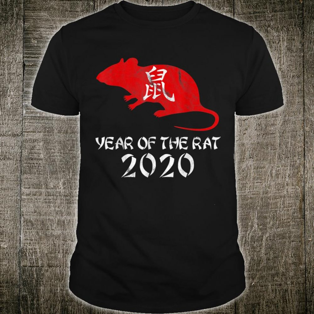 Calligraphy Year of The Rat 2020 Happy Chinese New Year Shirt