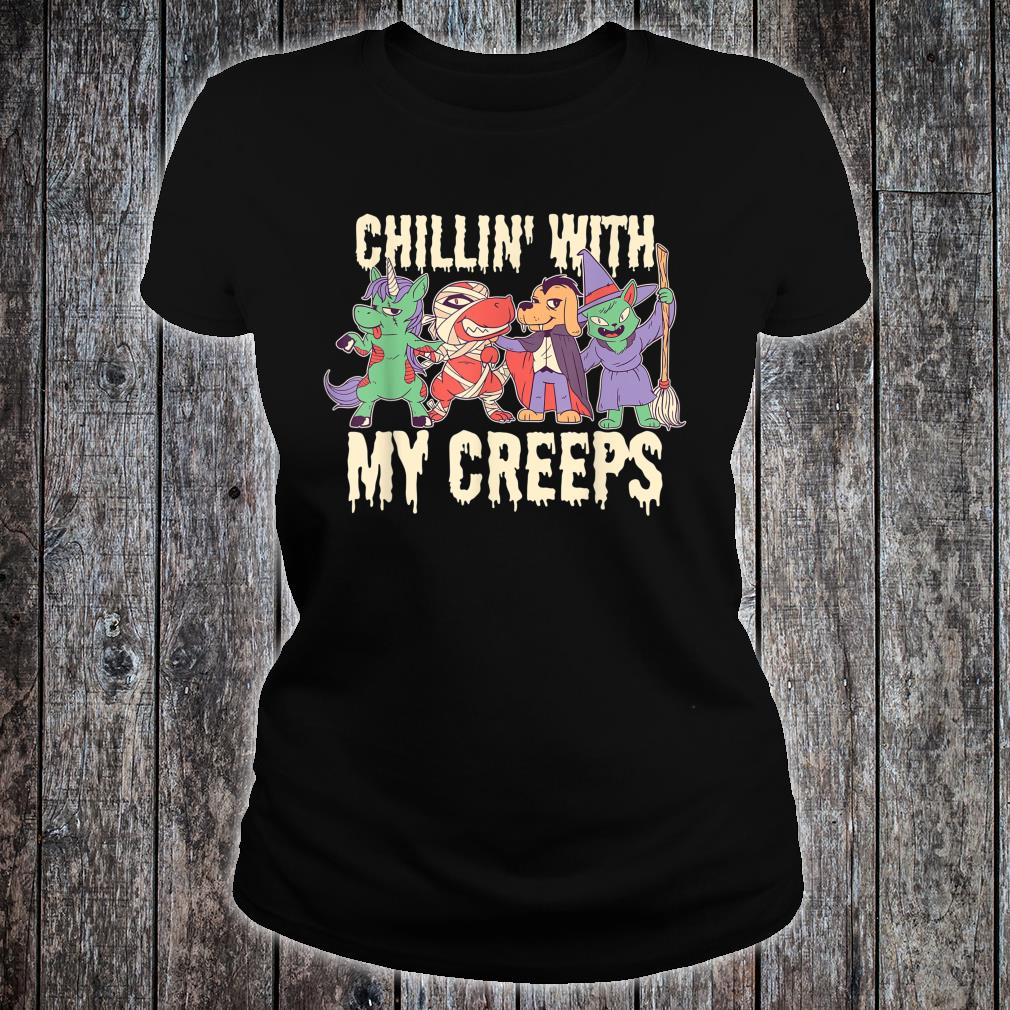 Chilling with My Creeps Halloween Shirt ladies tee