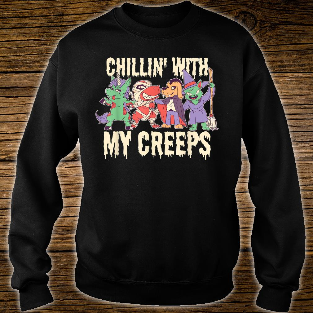 Chilling with My Creeps Halloween Shirt sweater