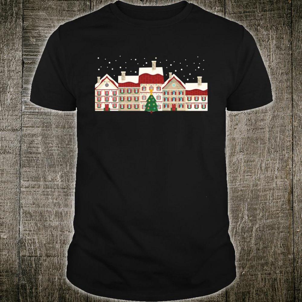 Christmas Holiday Village Scene Shirt