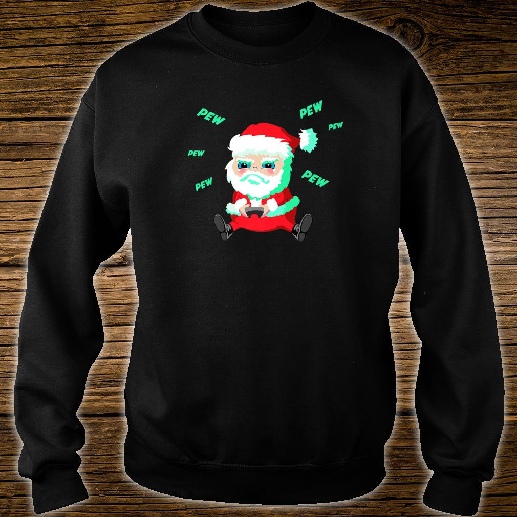 Christmas Santa playing Video Game with Controller Pew Shirt sweater