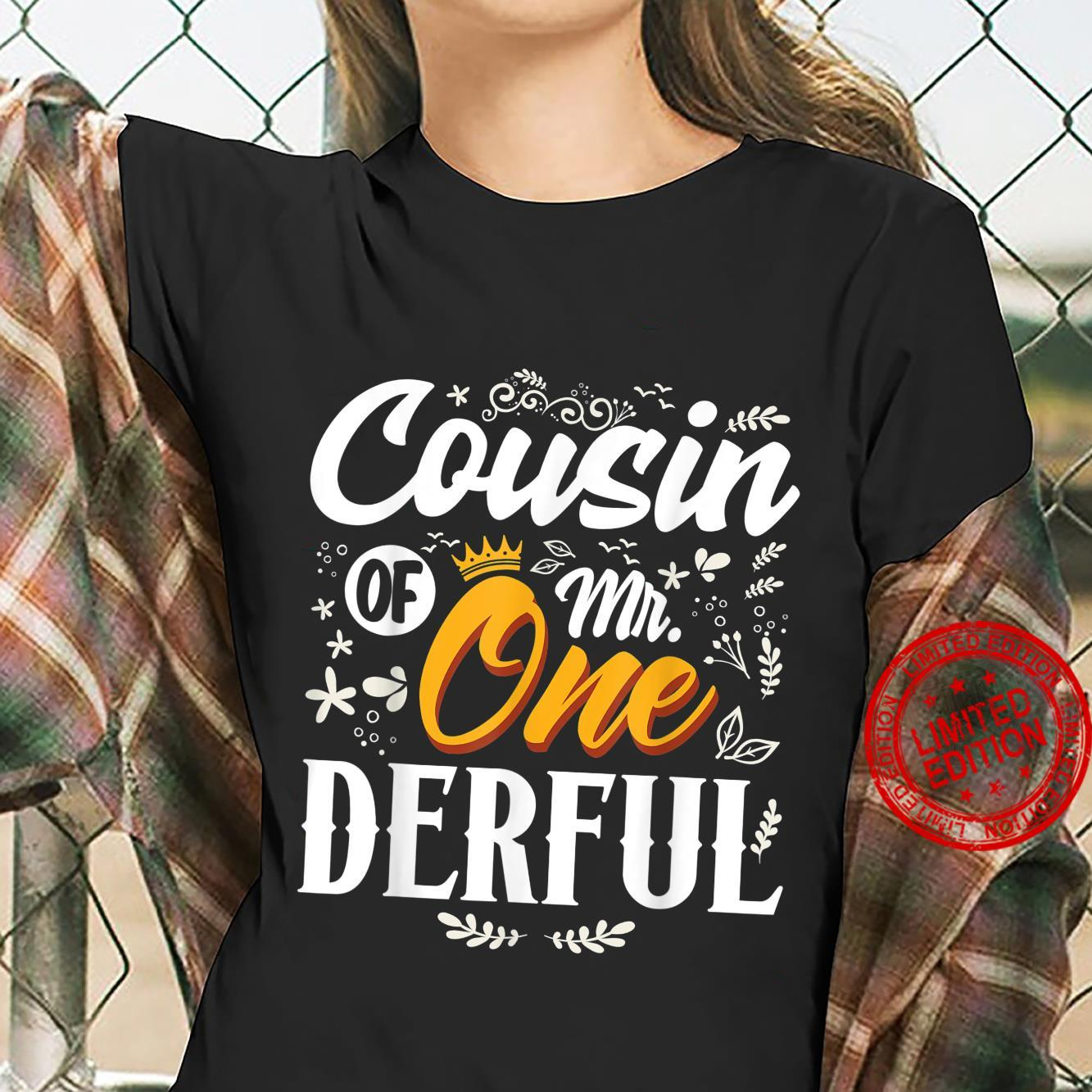 Cousin of Mr Onederful 1st Birthday First OneDerful Shirt ladies tee