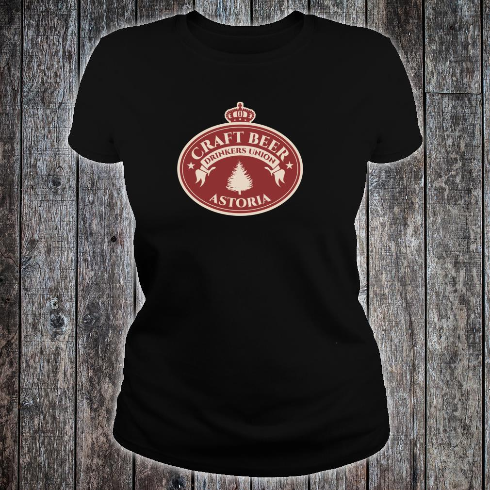 Craft Beers Astoria Oregon Shirt ladies tee