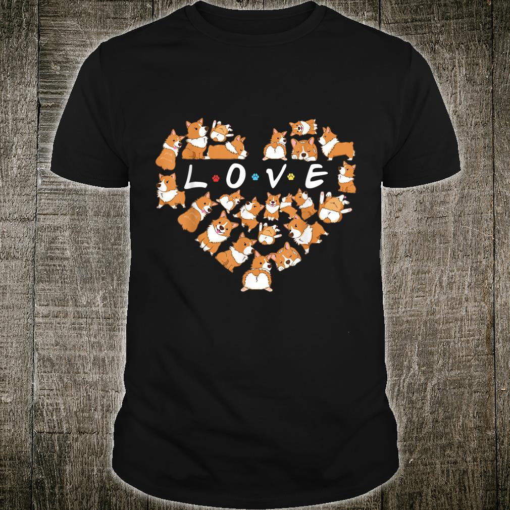 Cute Corgi Heart Dog Shirt