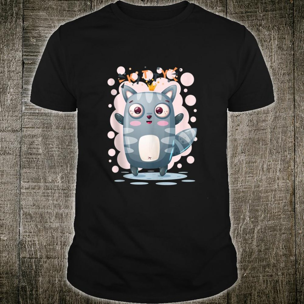 Cute Princess Cat Illustration Shirt