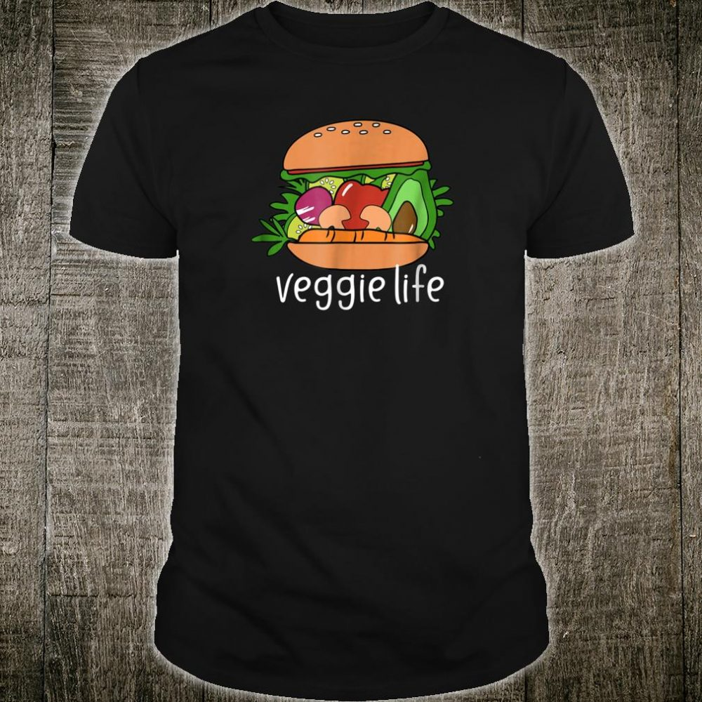 Cute Vegan Shirt Veggie Life Veggie Burger Shirt