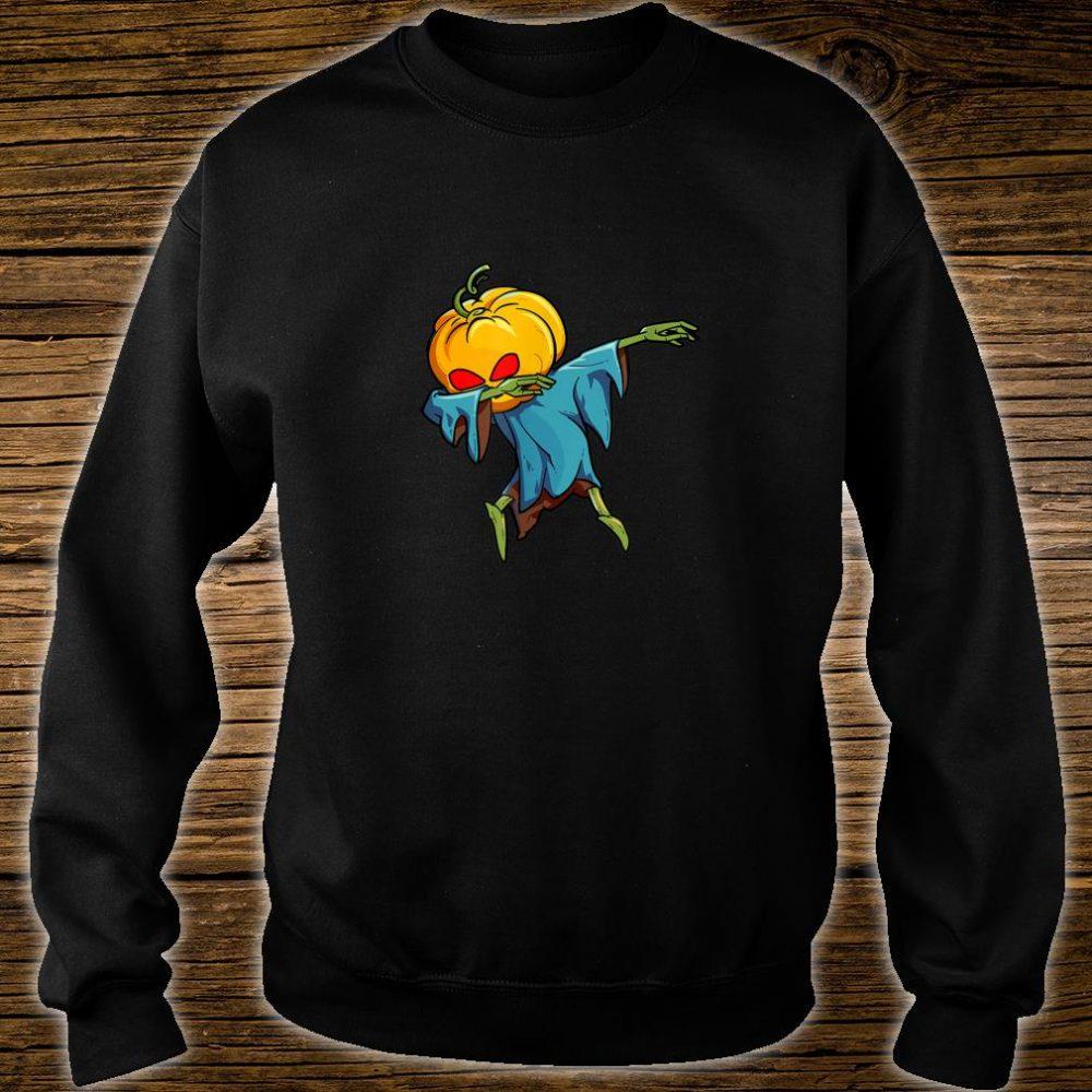 Dabbing Pumpkin Head Scary Halloween Dab Shirt sweater