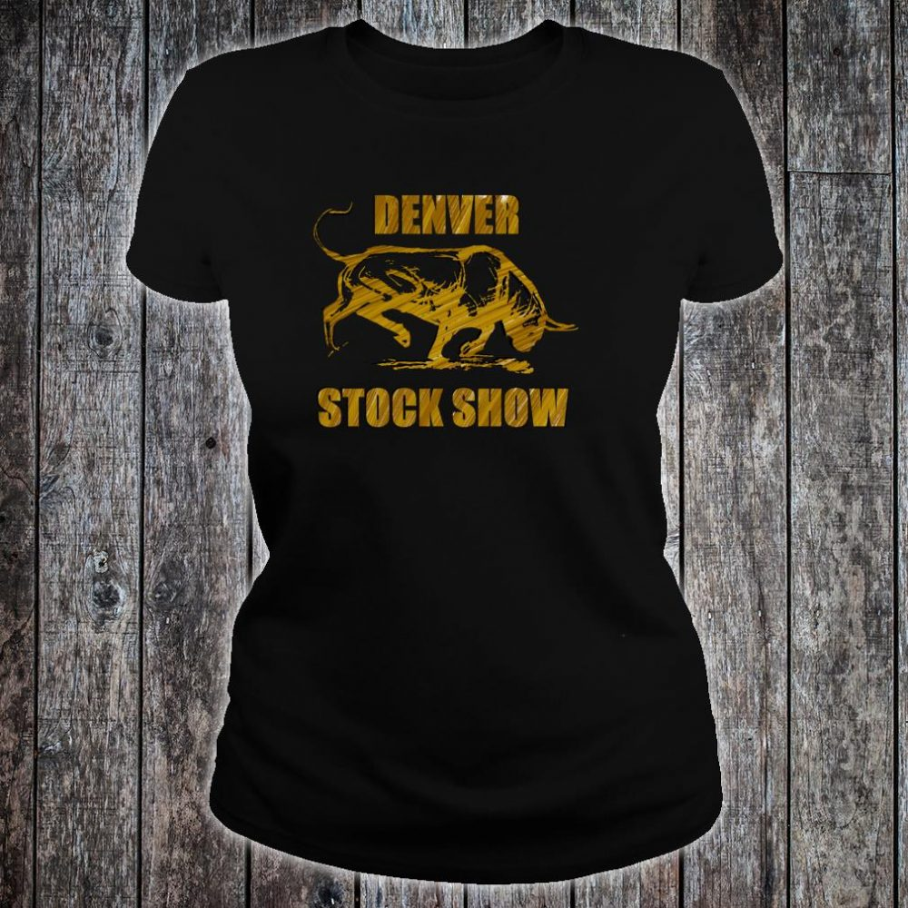 Denver Stock Show Colorado Bull Shirt ladies tee