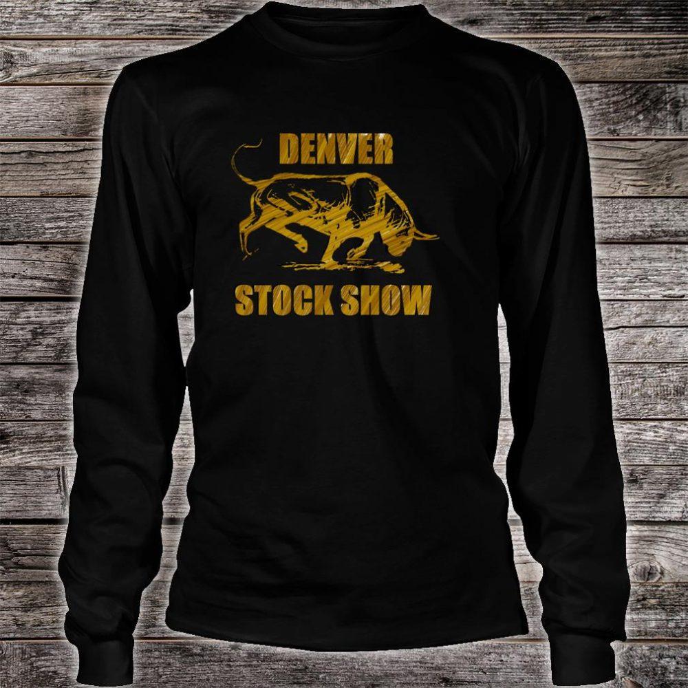 Denver Stock Show Colorado Bull Shirt long sleeved