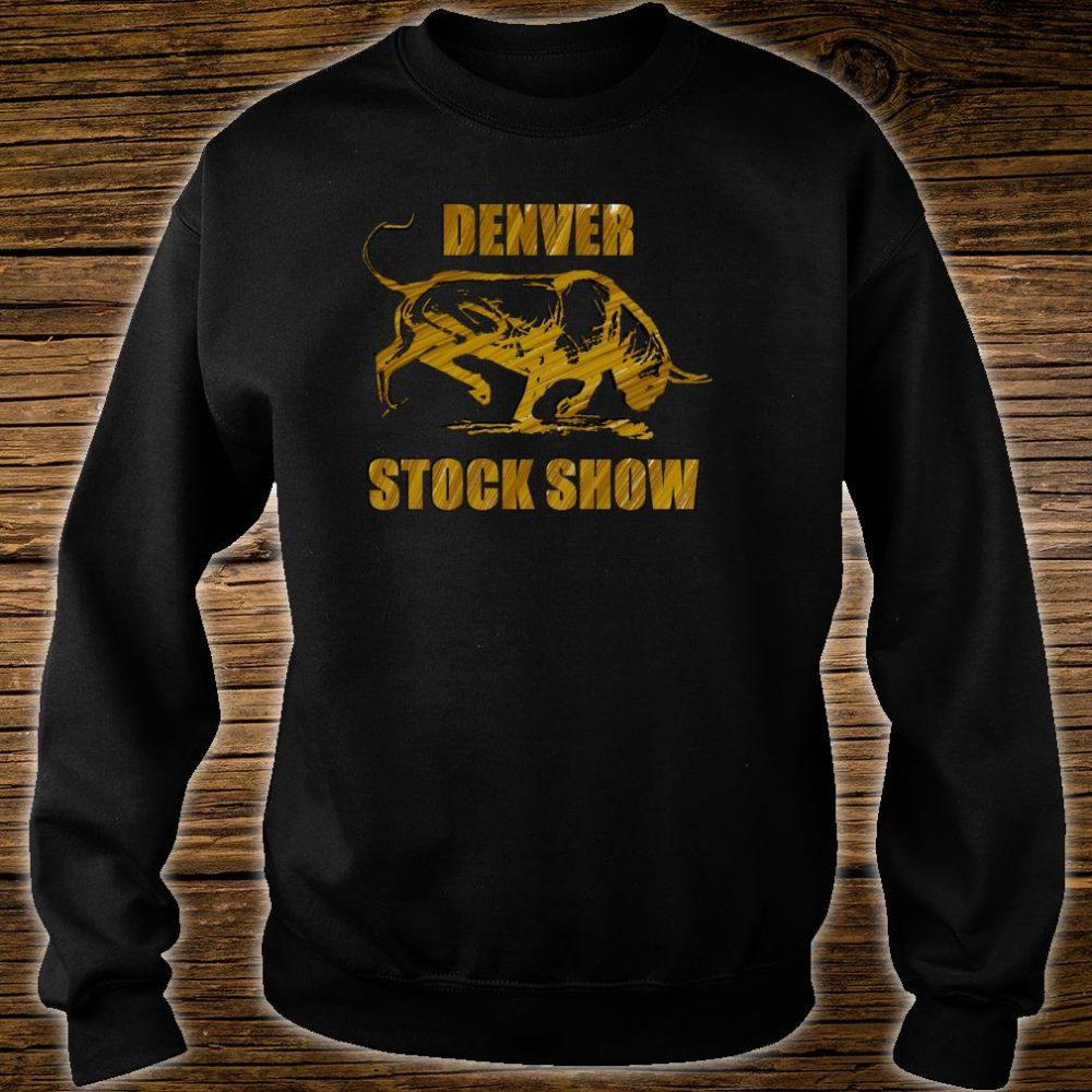 Denver Stock Show Colorado Bull Shirt sweater