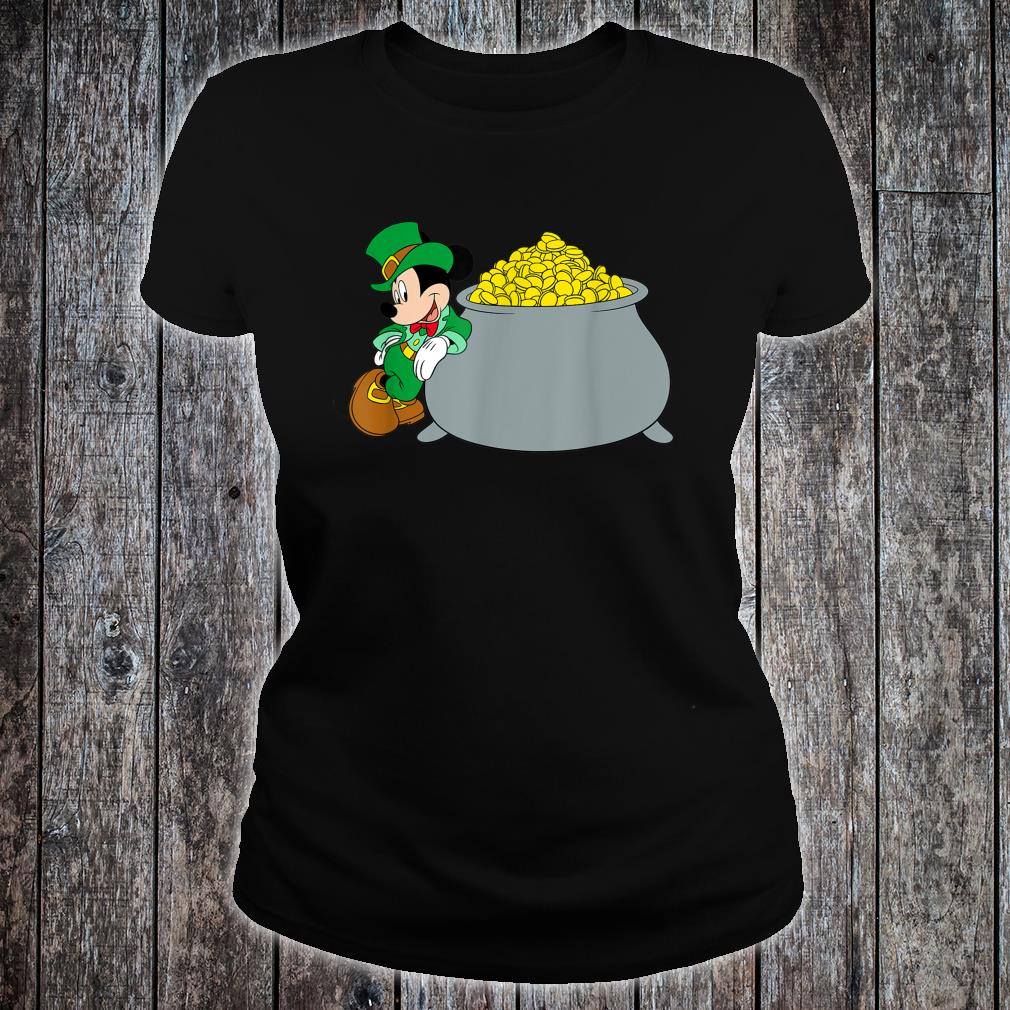 Disney Mickey Mouse St. Patrick's Day Pot of Gold Shirt ladies tee