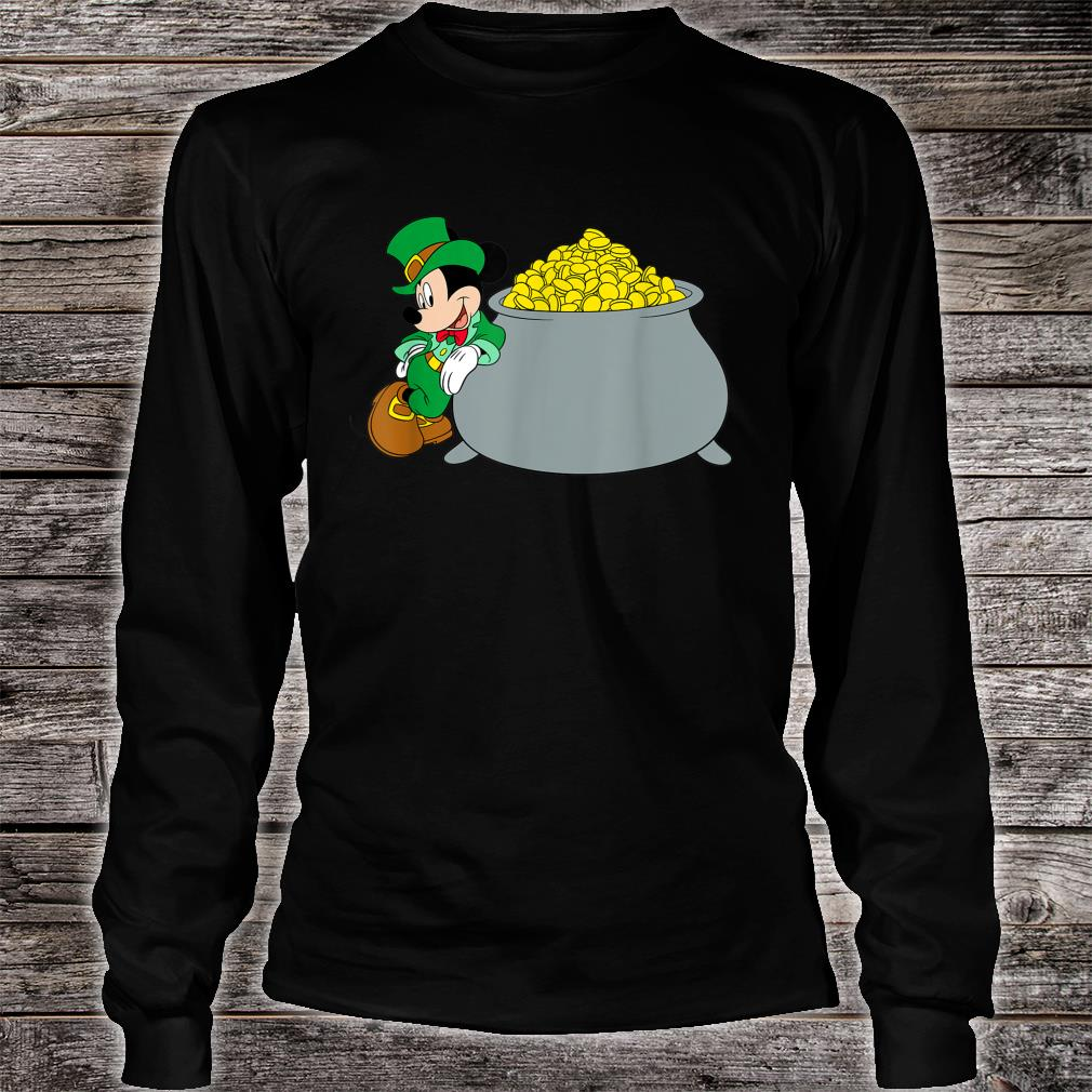Disney Mickey Mouse St. Patrick's Day Pot of Gold Shirt Long sleeved