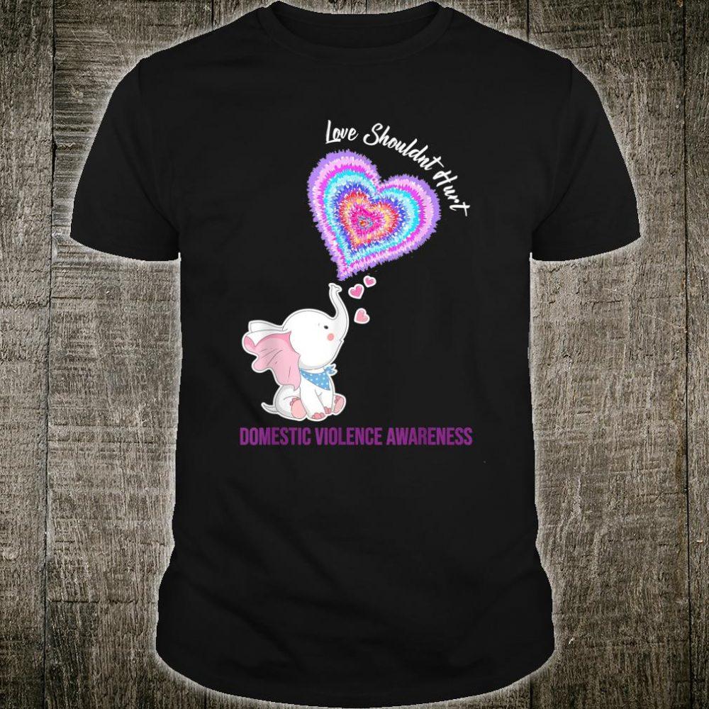 Domestic Violence Awareness Gifts Love Shouldn't Hurt Ribbon Shirt