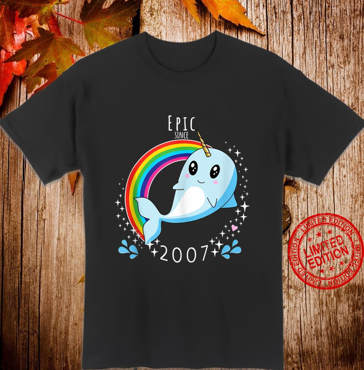 Epic Since 2007 Narwhal 13th Birthday Shirt
