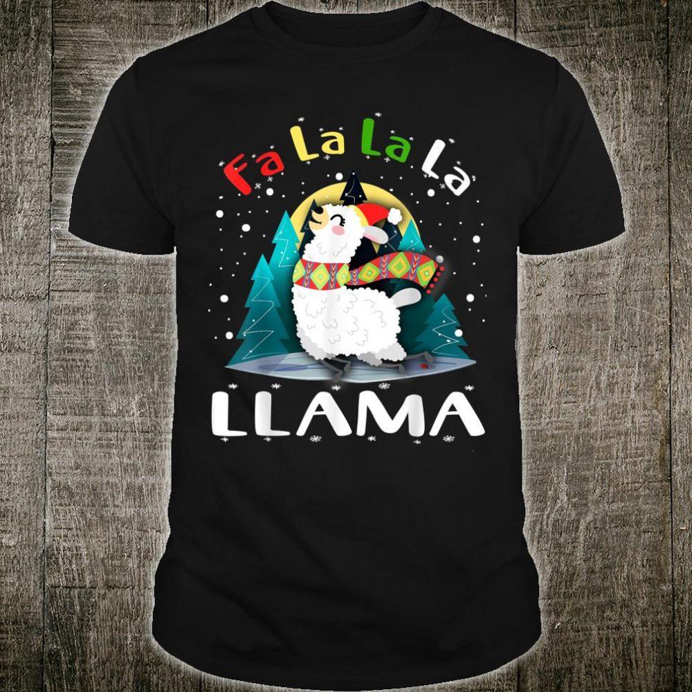 Fa La La Llama Santa Christmas Xmas Shirt