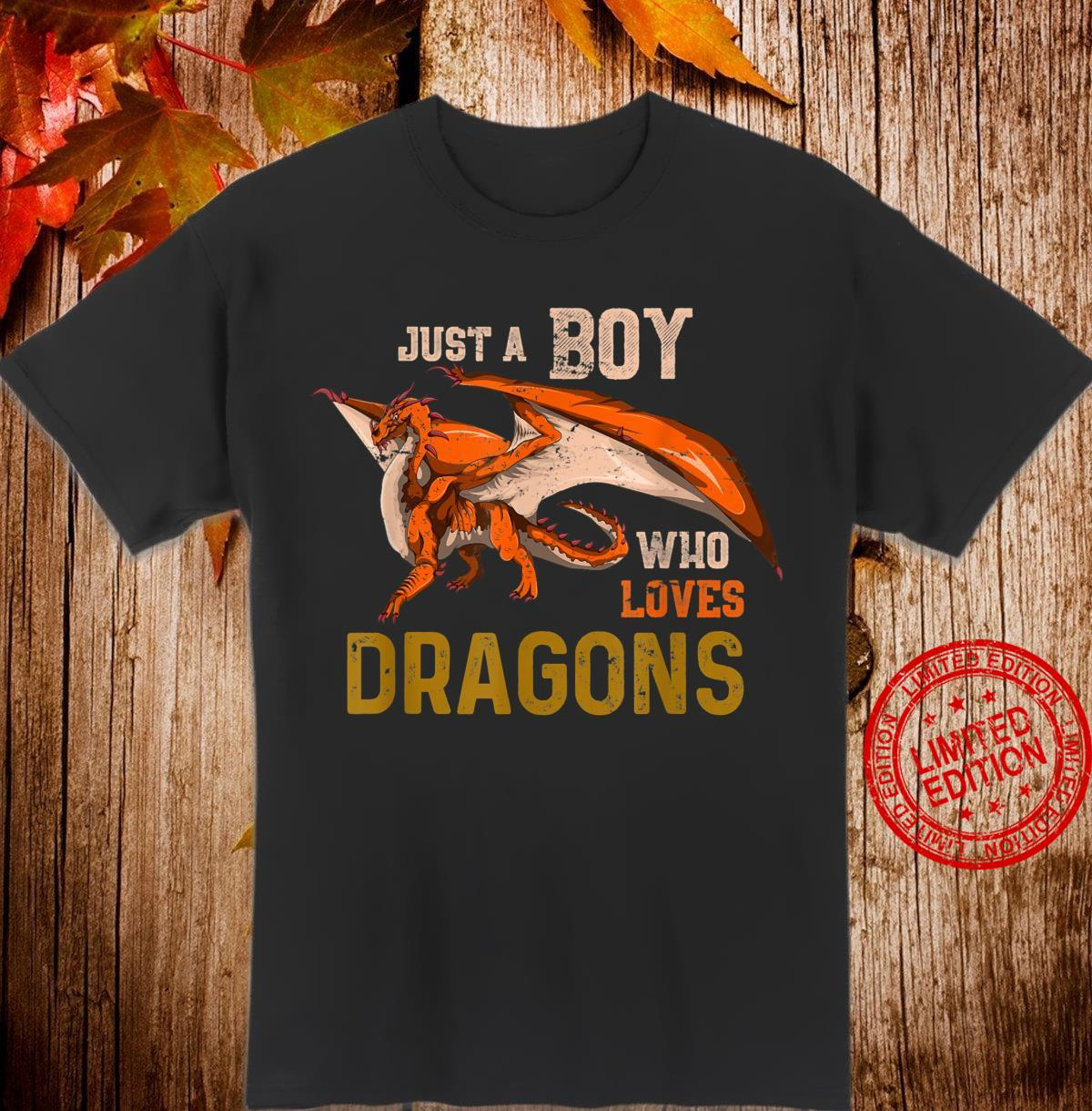Fantasy Animal Boys Dragon Shirt