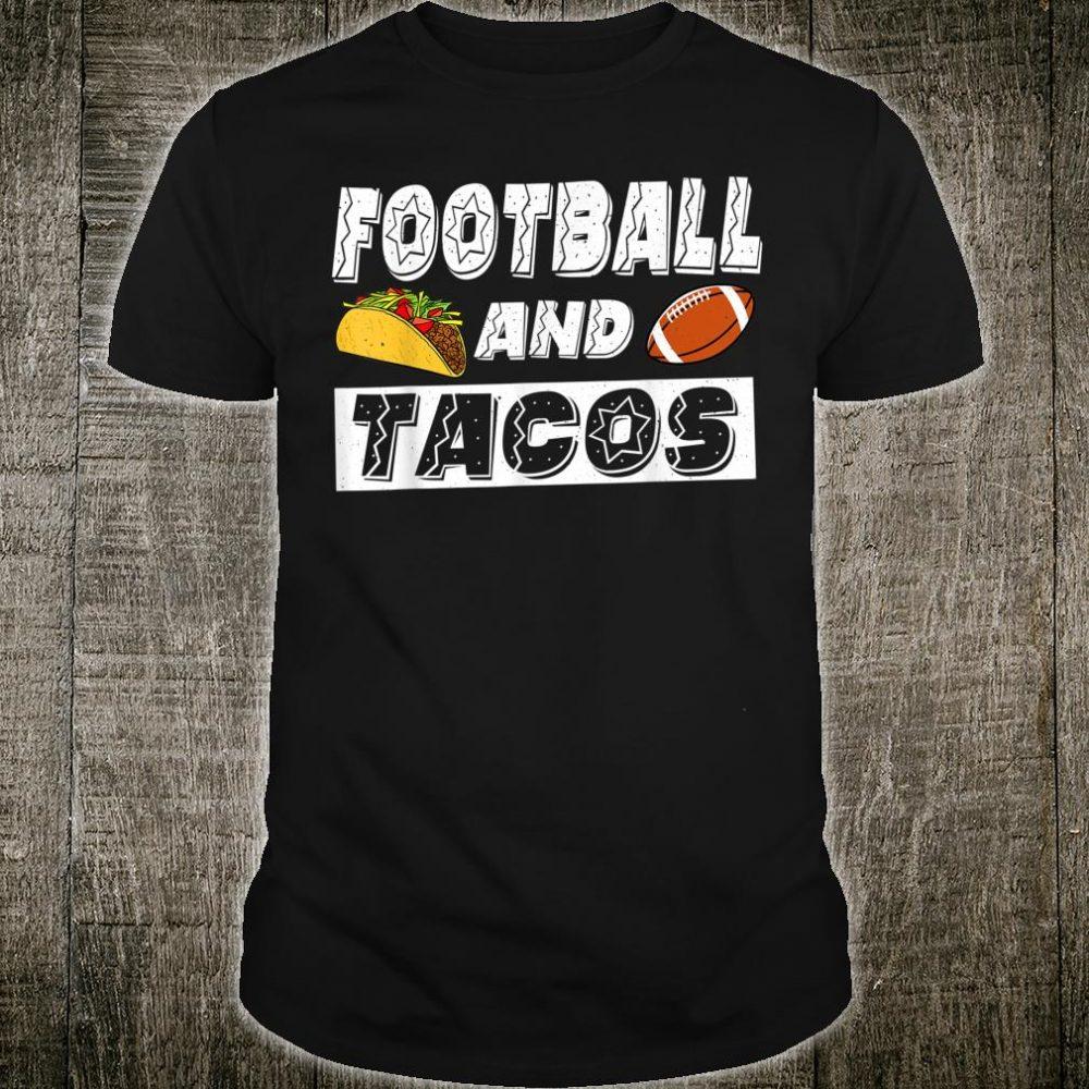 Football And Tacos Retro Vintage Shirt