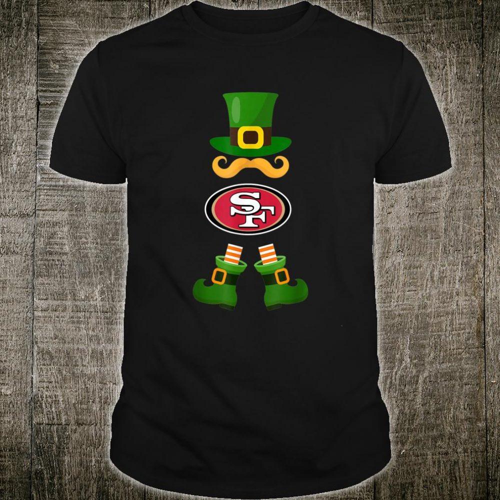 Football Leprechaun St Patricks Day San Francisco49er Shirt