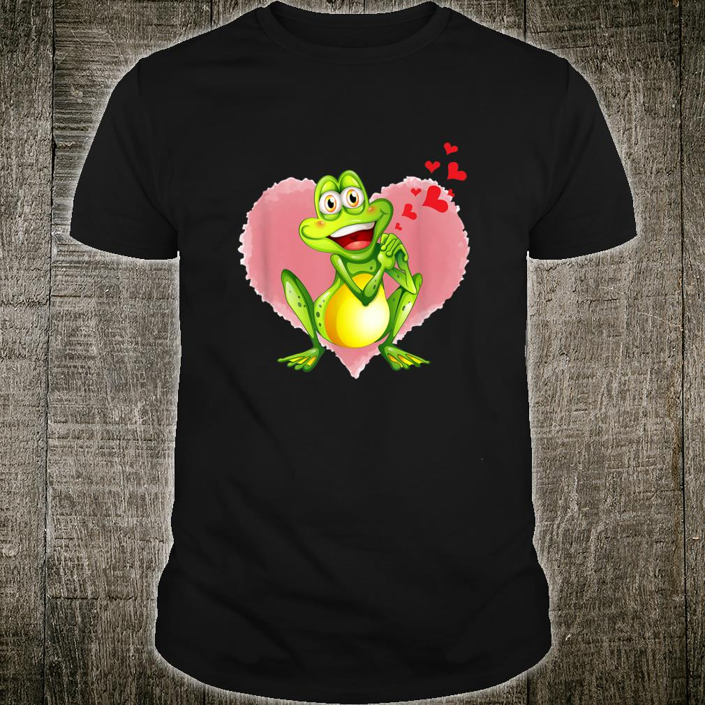 Frog With Heart Valentine For Him Her Shirt