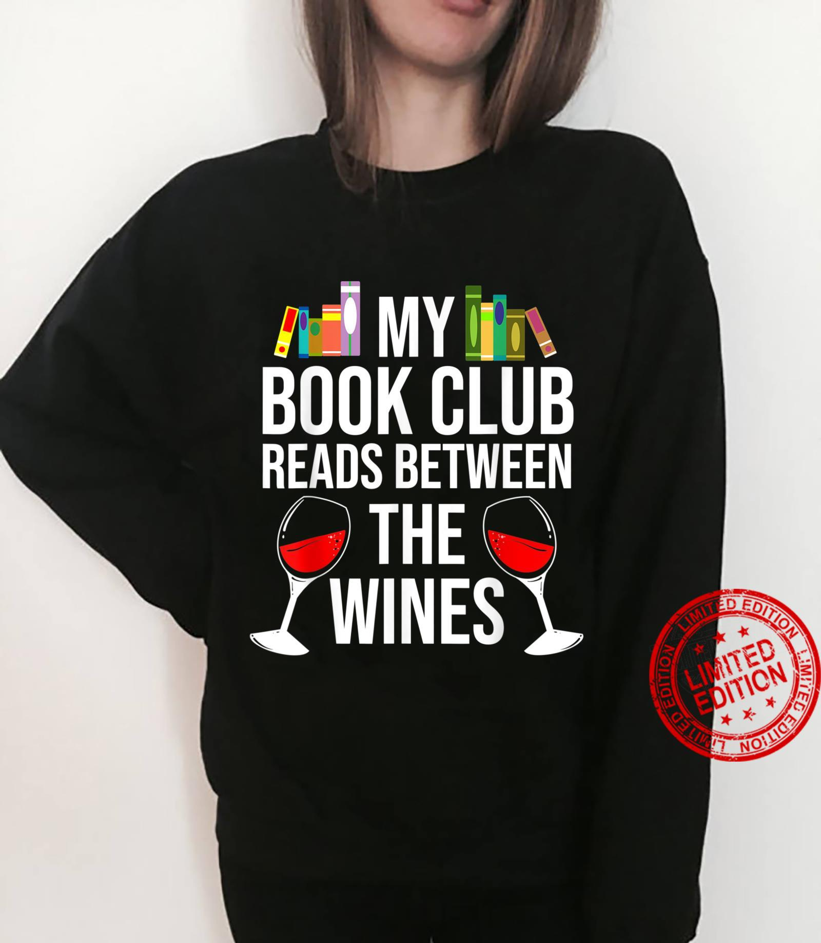 Funny Book Club Read Between Wine Book Shirt sweater