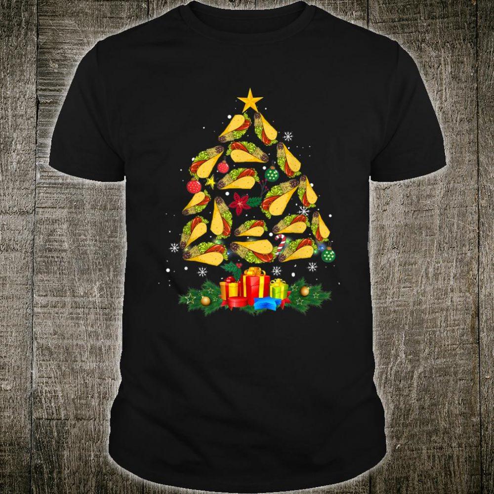Funny Tacos Christmas Tree Ugly Christmas for Tacos Shirt