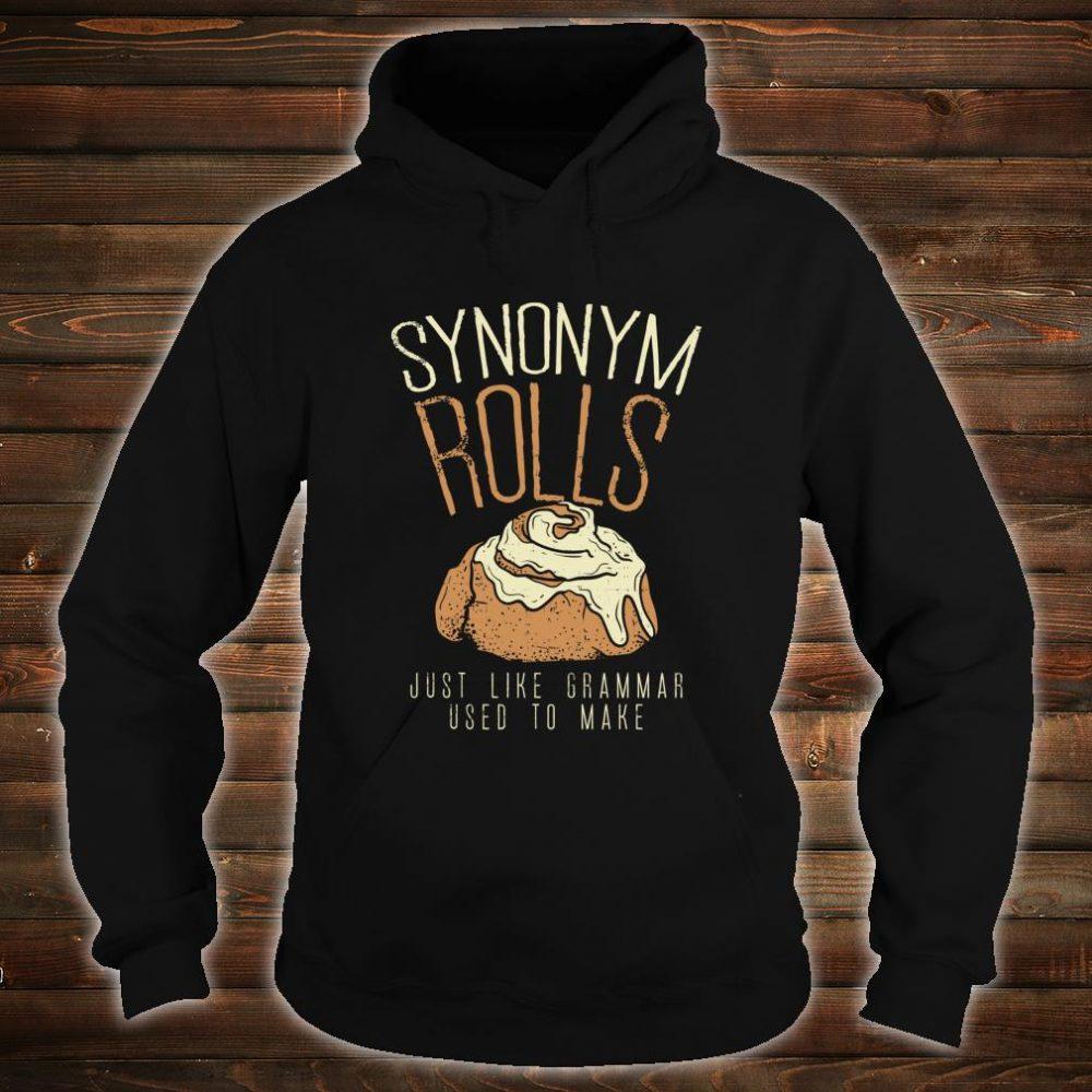 Funny Teacher, Student Synonym Rolls Grammar Shirt hoodie