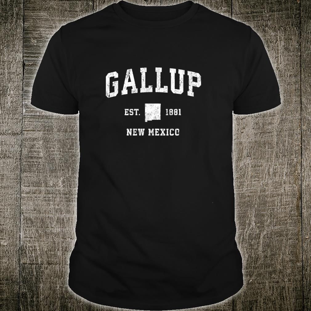 Gallup New Mexico NM Vintage Athletic Sports Design Shirt