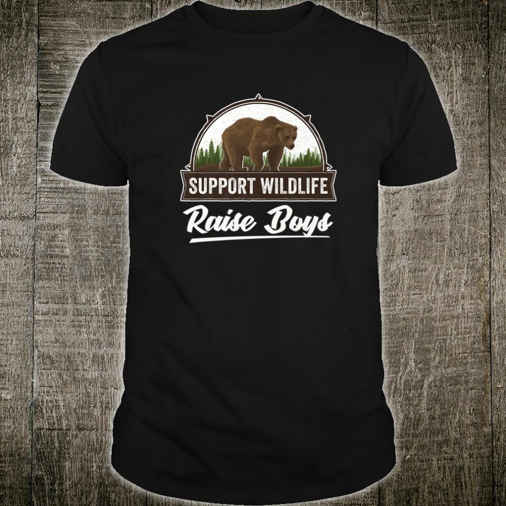 Gift For Mom Dad Support Wildlife Raise Boys Shirt