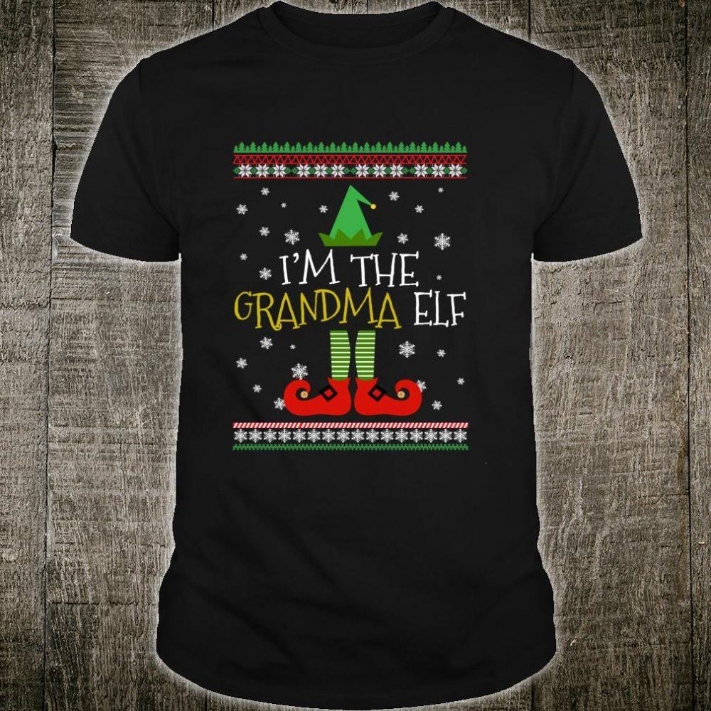 Grandma Elf Matching Family Group Christmas Party Pajama Shirt