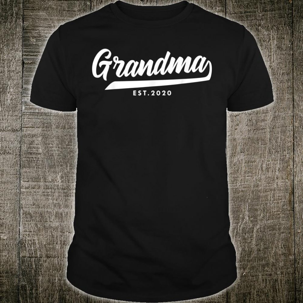 Grandma Est.2020 Promoted to Grandma Mama Nana Titi Nini Gif Shirt