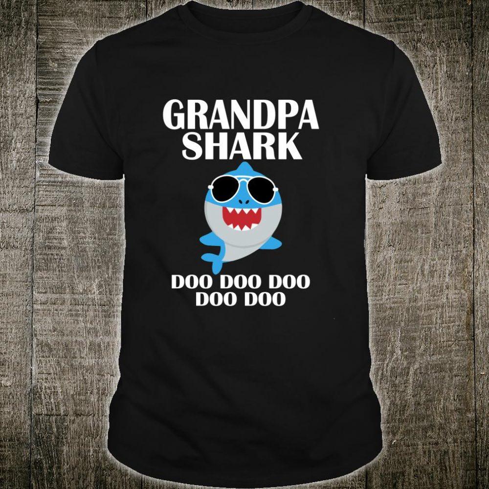 Grandpa Shark Shirt Doo Doo Doo Grandpa Christmas Shirt