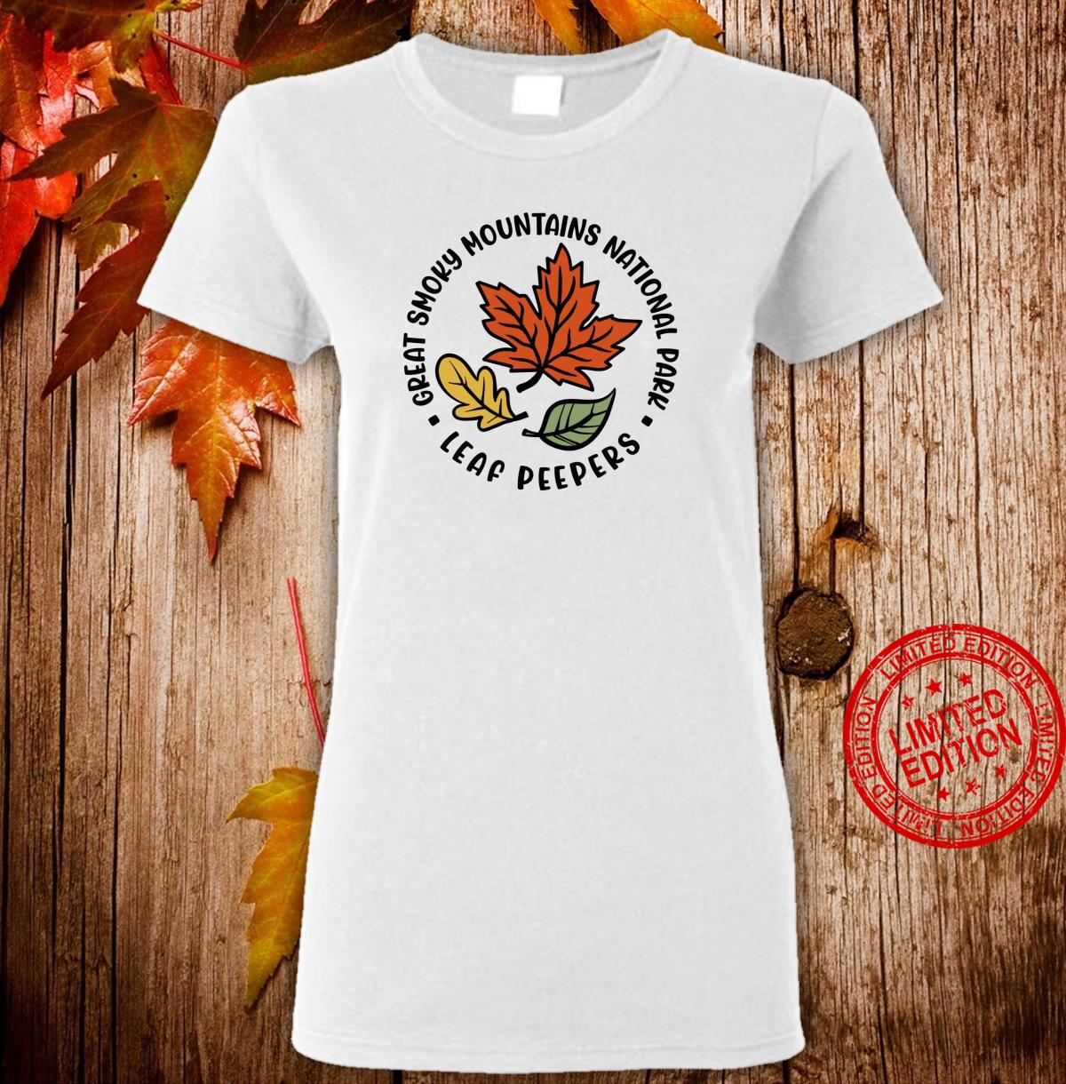 Great Smoky Mountains National Park Leaf Peeper Fall Shirt ladies tee