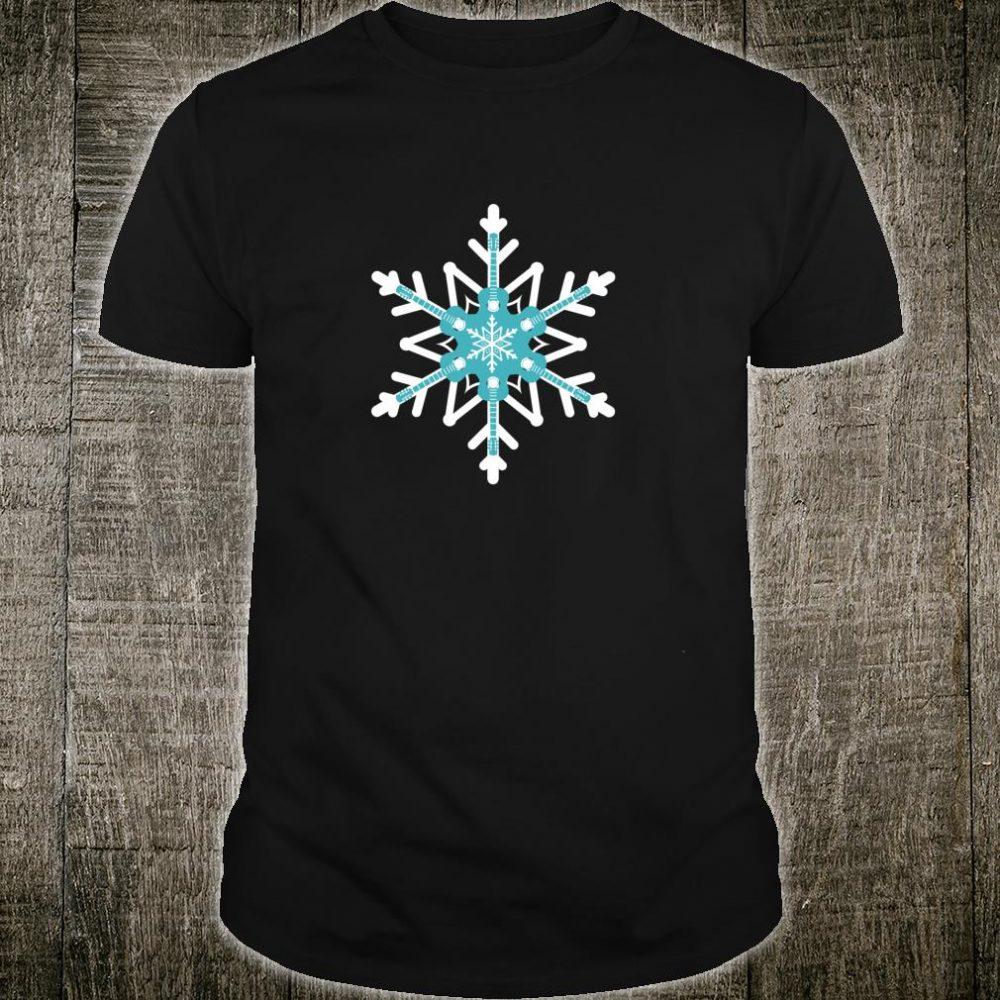 Guitar Player Christmas Guitarist Snowflake Shirt