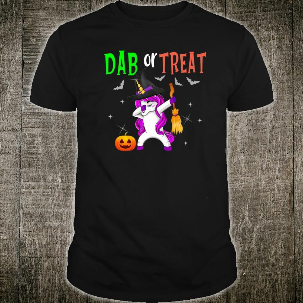 Halloween Dabbing Unicorn Outfit Shirt Holiday Costume Shirt