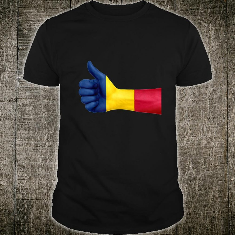 Hand With Flag Chad Shirt