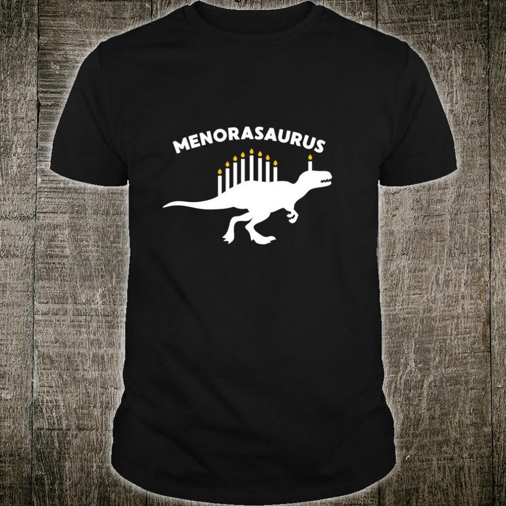 Hanukkah Dinosaurorasaurus Jewish Velociraptor Shirt