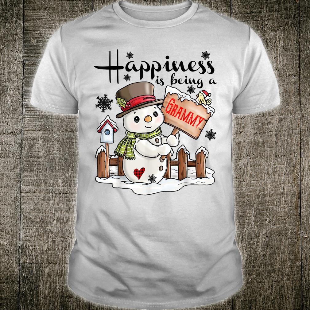 Happiness is being a Grammy Snowman Family Christmas Shirt