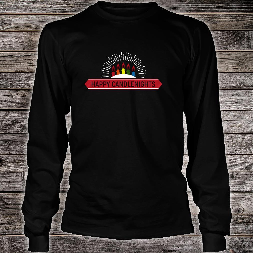 Happy Candle Nights Shirt Long sleeved