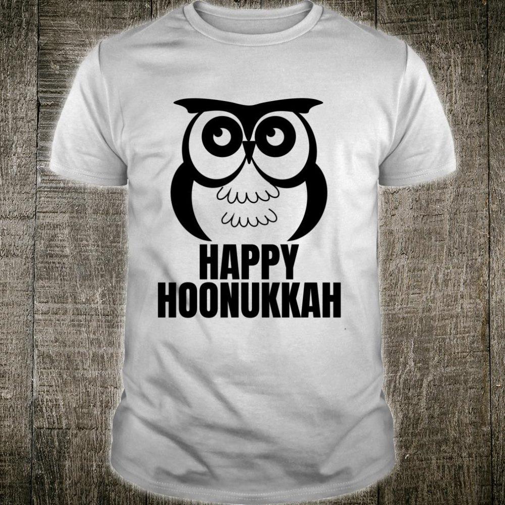 Happy Hoonukkah Hanukkah Cute Owl Witty Jewish Christmas Pj Shirt