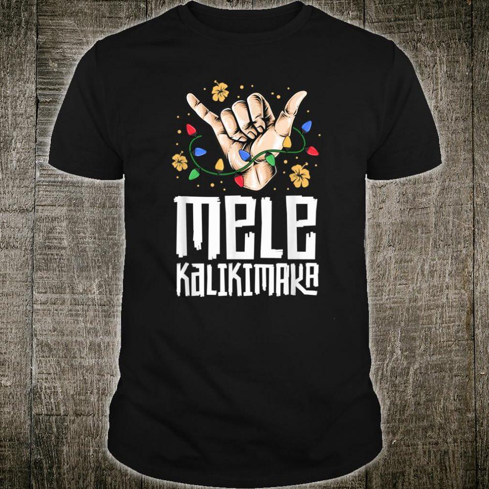 Hawaiian Christmas Shirt Mele Kaliki Shaka Kalikimaka Shirt